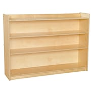 "Wood Designs™ Contender™ 35 1/2""(H) Ready-To Assemble Mobile Adjustable Book Case With Lip"
