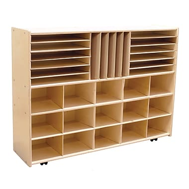 Wood Designs™ Contender™ Fully Assembled Multi-Storage With Casters, Baltic Birch