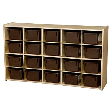 Wood Designs™ Contender™ Fully Assembled 20 Tray Storage With Chocolate Trays, Baltic Birch