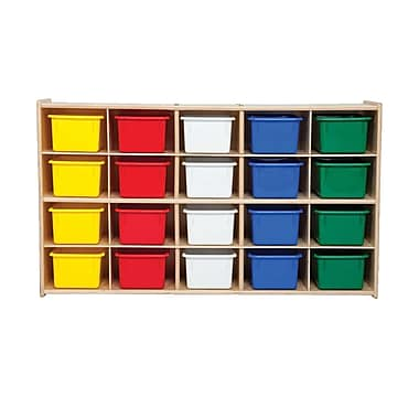 Wood Designs™ Contender™ 20 Tray Storage With Assorted Trays, Baltic Birch