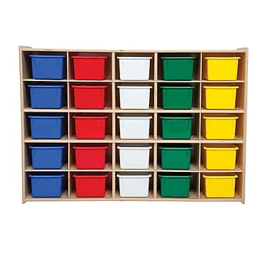 Wood Designs™ Contender™ 25 Tray Storage With Assorted Trays, Baltic Birch