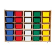 Wood Designs™ Contender™ Fully Assembled 25 Tray Storage W/Assorted Trays and Casters, Baltic Birch