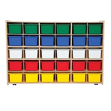 Wood Designs™ Contender™ Fully Assembled 30 Tray Storage W/Assorted Trays and Casters, Baltic Birch