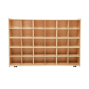 Wood Designs™ Contender™ Fully Assembled 30 Tray Storage With Casters, Baltic Birch