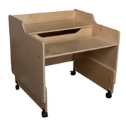 Wood Designs™ Contender™ Ready-To Assembled Mobile Computer Desk, Birch