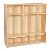 """Wood Designs™ Contender™ 47""""W 5 Section Seat Assembled Locker"""