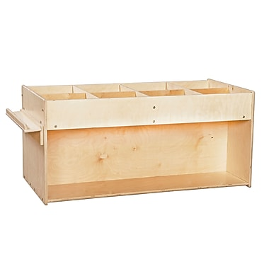 Wood Designs™ Contender™ 23 1/2in.(H) Assembled Mobile Book Organizer With Heavy Duty Casters