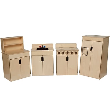 Wood Designs™ Natural Environments™ Tip-Me-Not™ Plywood Appliances W/Brown Tray and Knobs