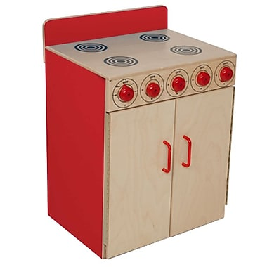 Wood Designs™ Dramatic Play Plywood Stove, Strawberry Red