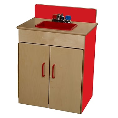 Wood Designs™ Dramatic Play Plywood Sink, Strawberry Red