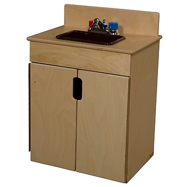 Wood Designs™ Natural Environments™ Tip-Me-Not™ Plywood Sink W/Brown Tray