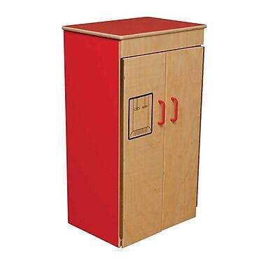 Wood Designs™ Dramatic Play Plywood Refrigerator, Strawberry Red