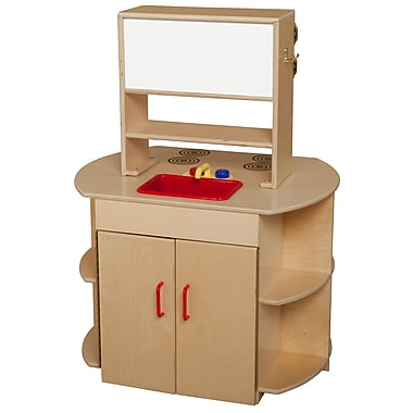 Wood Designs Dramatic Play Plywood All In One Kitchen Center Staples