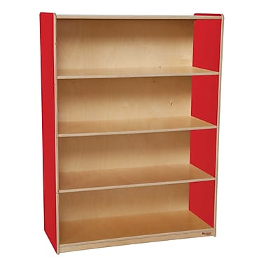Wood Designs Storage 36'' 3-Shelf Bookcase, Red (WD12900R)