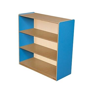 Wood Designs Storage 36'' 3-Shelf Bookcase, Blue (WD12936B)