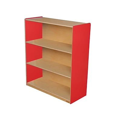Wood Designs Storage 36'' 3-Shelf Bookcase, Red (WD12942R)