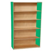 "Wood Designs™ Storage 60""(H) Fully Assembled Plywood Bookshelf, Green Apple"