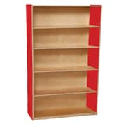 Wood Designs™ Storage 60(H) Fully Assembled Plywood Bookshelf, Strawberry Red