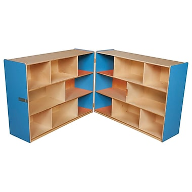 Wood Designs™ Storage 36in.H Folding Storage, Blueberry