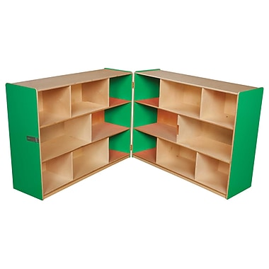 Wood Designs™ Storage 36in.H Folding Storage, Green Apple