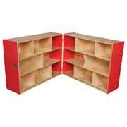 "Wood Designs™ Storage 36""H Folding Storage, Strawberry Red"