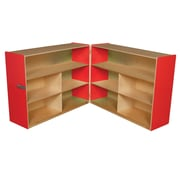 "Wood Designs™ Storage 36""H Folding Versatile Storage, Strawberry Red"
