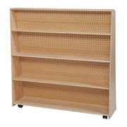 "Wood Designs™ Literacy 48""(H) Fully Assembled Plywood Jumbo Double-Sided Book Display, Natural"