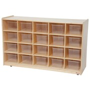 Wood Designs 20 Tray Storage With 20 Translucent Trays, Birch