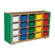 Wood Designs™ Tray Storage With 20 Assorted Trays, Green Apple