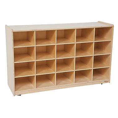 Wood Designs 20 Tray Storage Without Trays, Birch