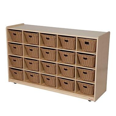 Wood Designs 20 Tray Storage With 20 Baskets, Birch