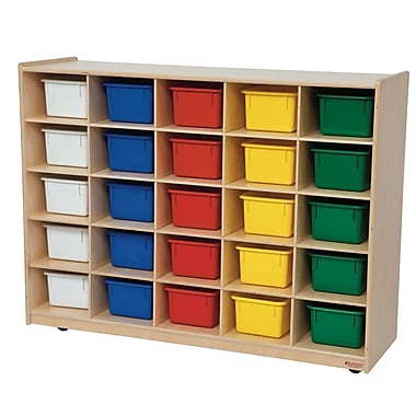 Wood Designs™ Cubby Storage Cabinets With 25 Assorted Trays