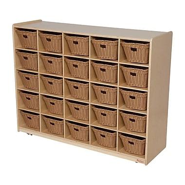 Wood Designs™ Cubby Storage Cabinet With 25 Baskets, Birch