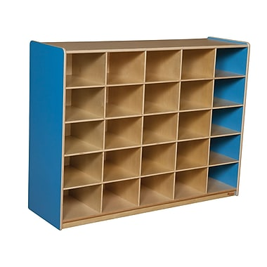 Wood Designs 25 Cubby Storage Cabinet Without Trays, Blueberry