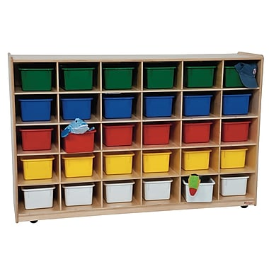Wood Designs™ Cubby Storage Cabinets With 30 Assorted Trays