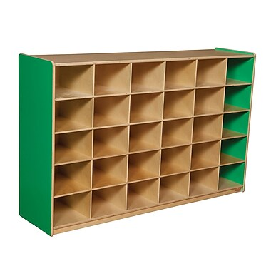 Wood Designs 30 Cubby Storage Cabinet Without Trays, Green Apple
