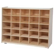 "Wood Designs™ Tip-Me-Not™ 30""H Birch 25 Cubby Storage Unit Without Trays"