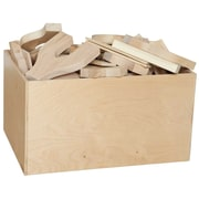 "Wood Designs 15"" x 24"" Plywood Block Bin With 4 Sides"