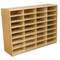 Wood Designs™ 32 - 3in. Letter Tray Storage Unit Without Trays, Birch