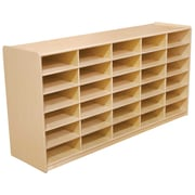Wood Designs 30 - 3 Letter Tray Storage Unit Without Trays, Birch