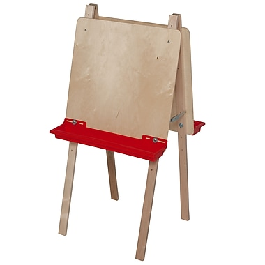 Wood Designs™ Art Double Adjustable Easel With Plywood, Birch