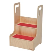 Wood Designs™ Tot Furniture Polyurethane Step-Up-N-Wash With Red Treads, Birch