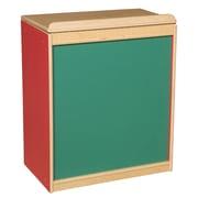 Wood Designs™ Literacy 25(H) Plywood Big Book Display and Storage W/Chalkboard, Strawberry Red