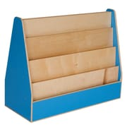 "Wood Designs™ Literacy 29 1/2""(H) Plywood Double-Sided Book Display, Blueberry"
