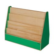 "Wood Designs™ Literacy 29 1/2""(H) Plywood Double-Sided Book Display, Green Apple"