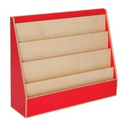 "Wood Designs™ Literacy 29""(H) Plywood Book Display Stand, Strawberry Red"