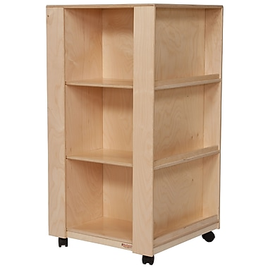 Wood Designs™ Literacy 44in.(H) Fully Assembled Plywood Library and Display Center, Natural