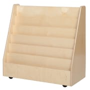 "Wood Designs™ Literacy 30""(H) Fully Assembled Plywood Book Storage and Display W/3"" Trays"