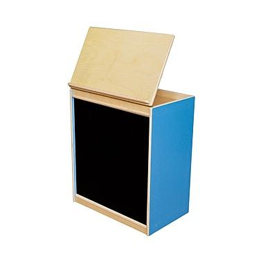 Wood Designs Literacy 24'' 1-Shelf Bookcase, Blue (WD44100B)