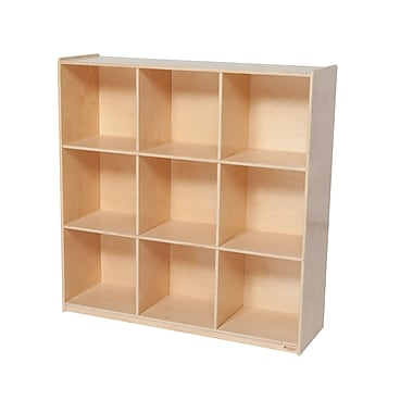 Wood Designs™ Storage Nine Big Cubby Storage, Birch